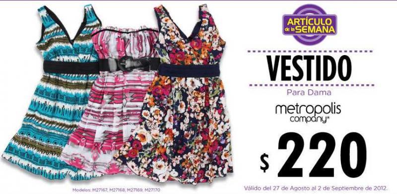 Artículo de la semana en Suburbia: vestido Metrópolis a $220