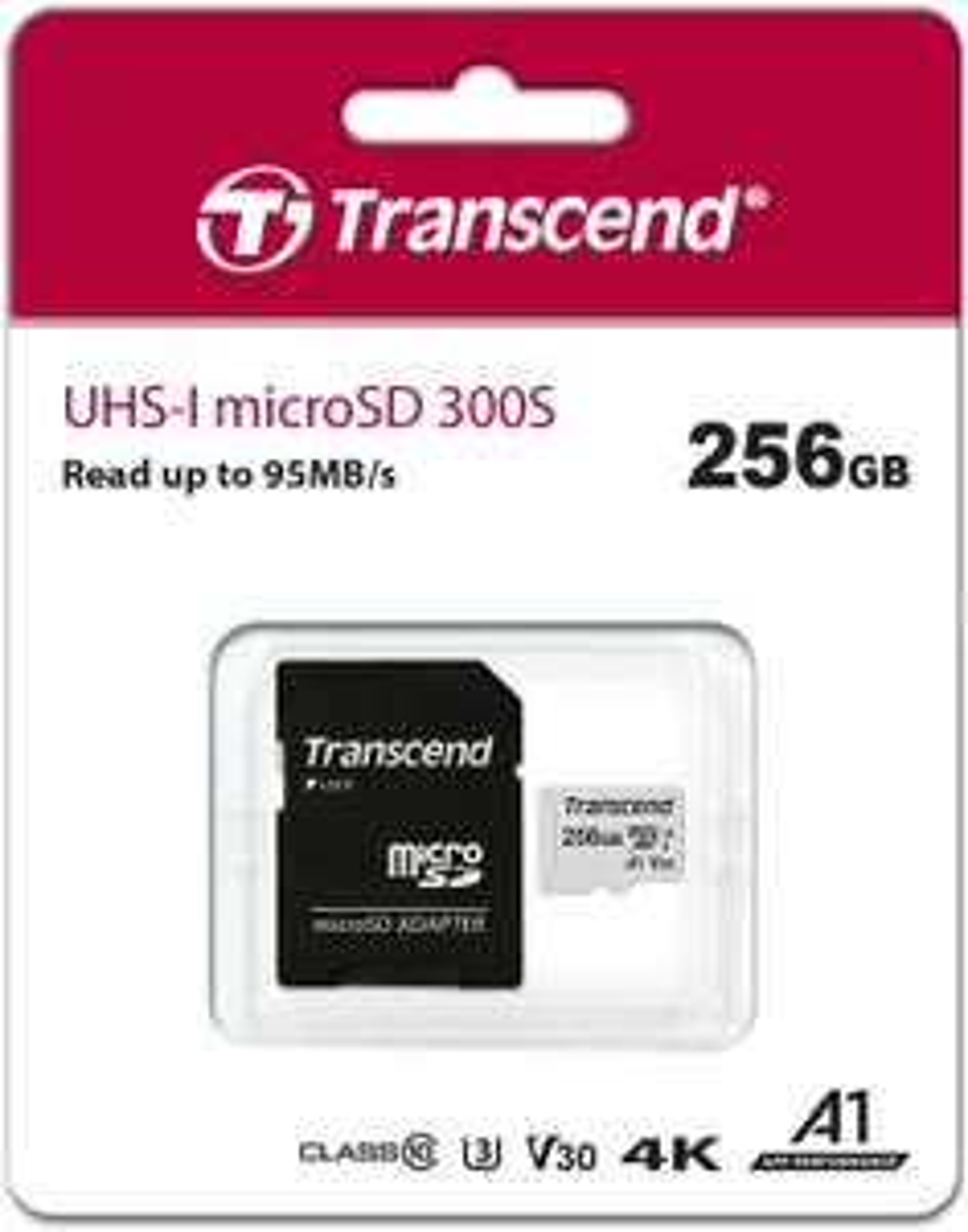 Amazon: Transcend TS256GUSD300S - Tarjeta de Memoria microSDXC/SDHC 300S 256 GB