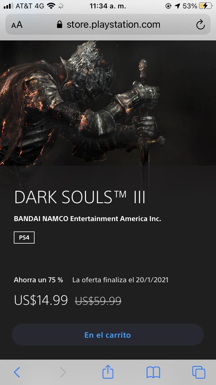 PlayStation DARK SOULS III -75%