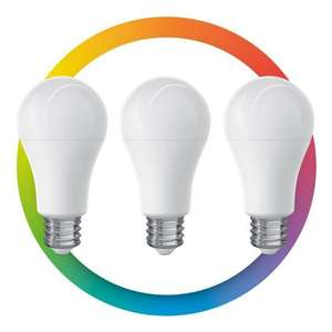 STEREN - 3 focos LED Wi-Fi multicolor, de 10 W