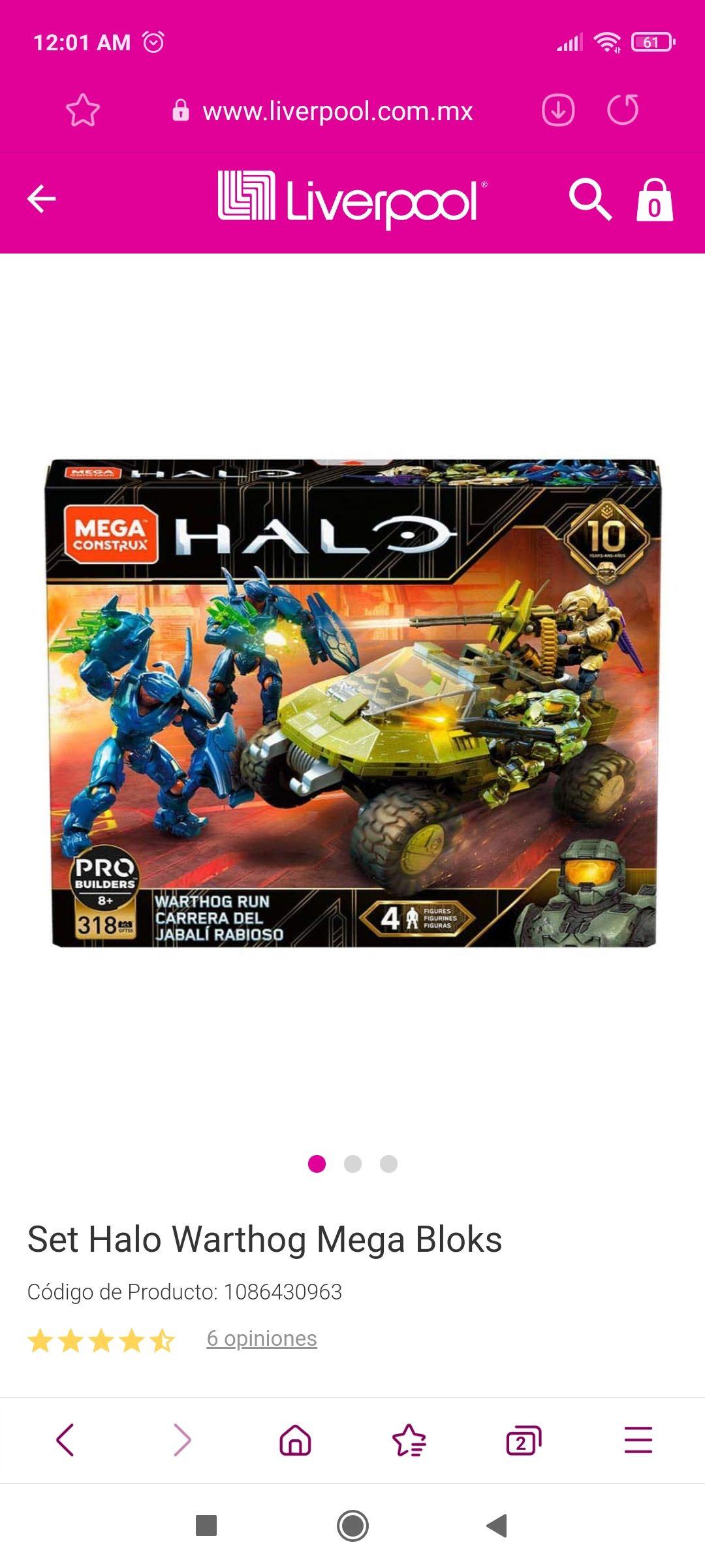Liverpool: Halo warthog . 10 Aniversario. Mega Construx con descuento y envio gratis.