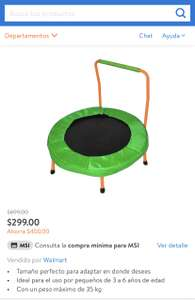 Mini Trampolín Athletic Works 3 Pies Verde WALMART