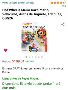 AMAZON: MARIO KART HOT WHEELS