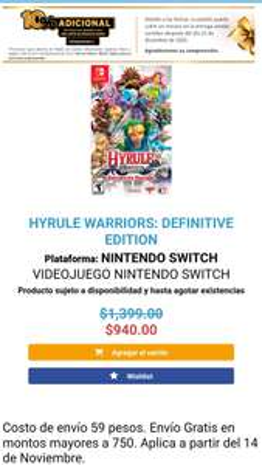 Mixup: Hyrule Warriors Definitive Edition Nintendo Switch