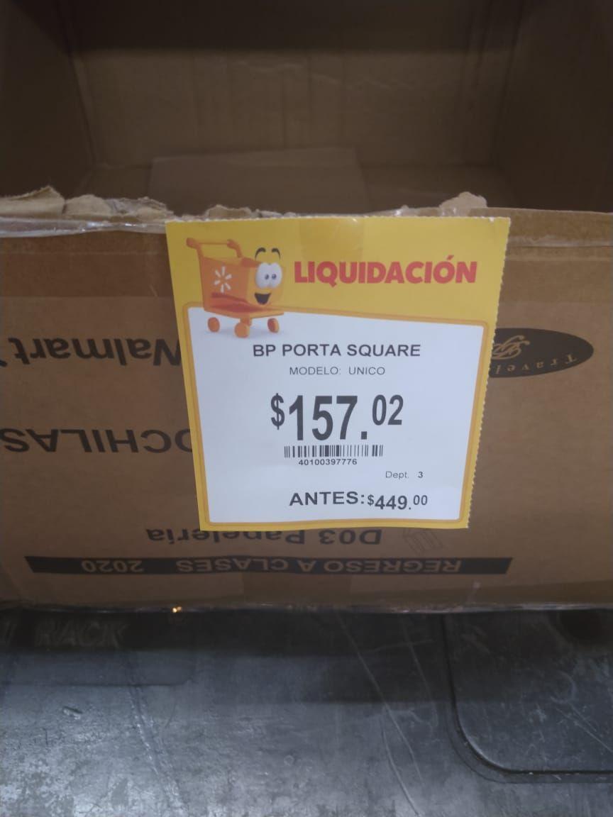 Walmart: mochila portalaptop en liquidación