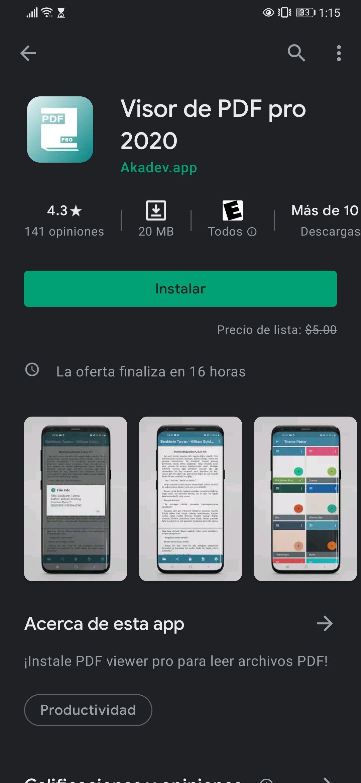 Google Play: Pdf reader Pro