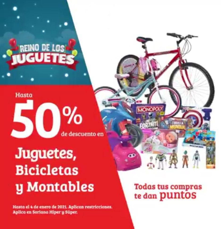 Soriana Híper y Súper: Hasta 50% de descuento en juguetes, bicicletas y montables