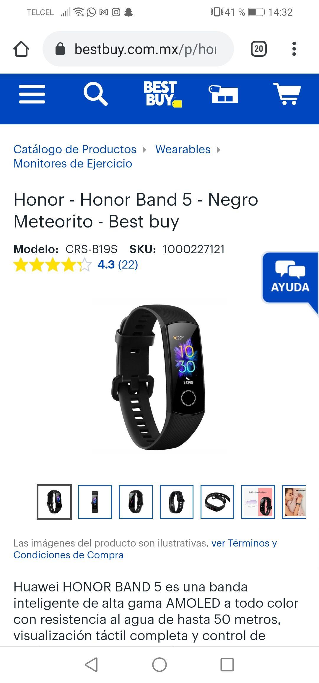 Best Buy Honor Band 5 black!