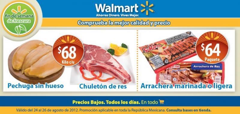 Fin de semana de Frescura Walmart agosto 24: paquete de arrachera $64 y más