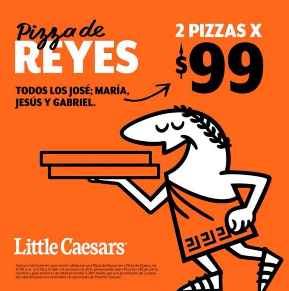 Little Caesars: 2 pizzas por $99 (Pepperoni y Queso) para todos los que tengan el nombre José + (María ó Jesús ó Gabriel)