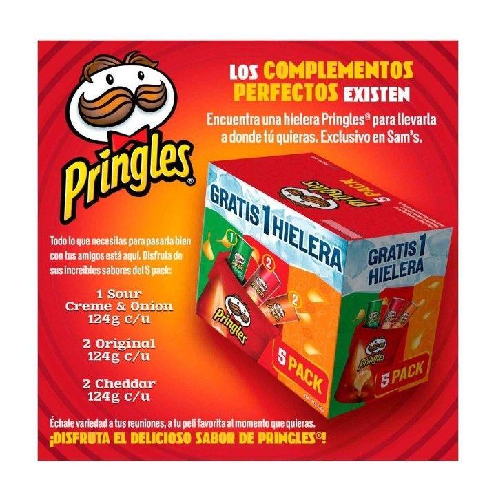 Sam's Club: Pringles Mix 5 piezas de 124g c/u + HIELERA