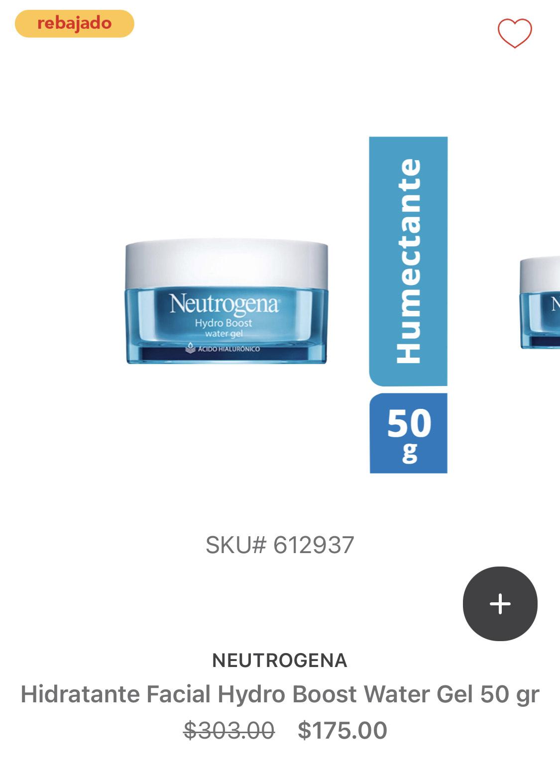 HEB: Neutrogena Hidratante Facial Hydro Boost (en línea)