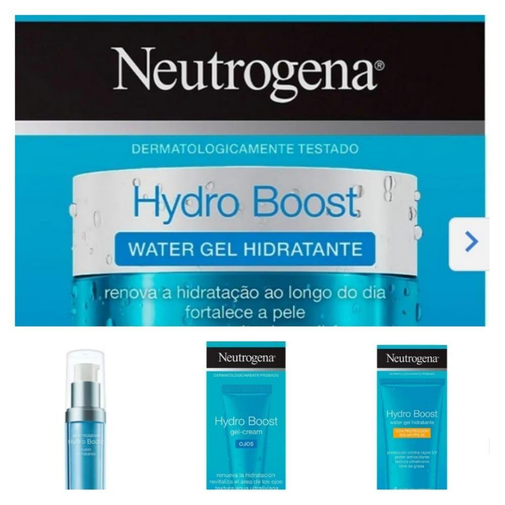 Walmart online Línea Neutrogena Hydro boost ácido hialurónico, crema, contorno de ojos, bloqueador solar a 2x$370 ($185 c/u)