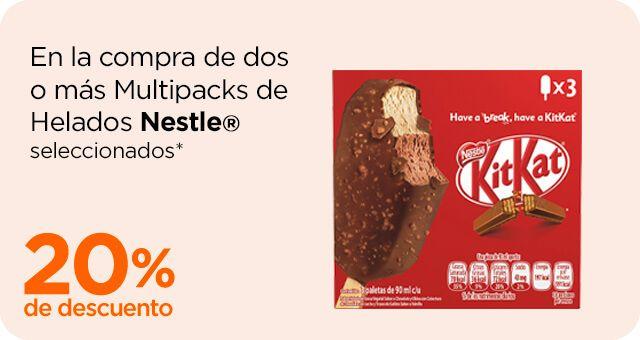 Chedraui: 20% de descuento en la compra de 2 ó más helados Multipacks Nestlé y Holanda