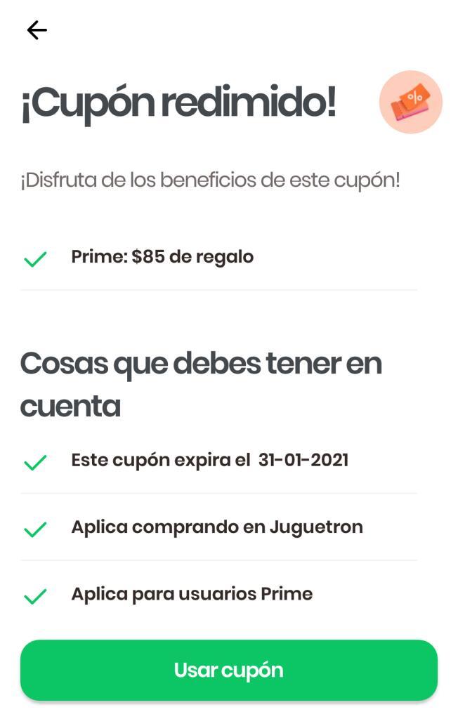 Rappi: $85 de descuento en Juguetron solo usuarios prime