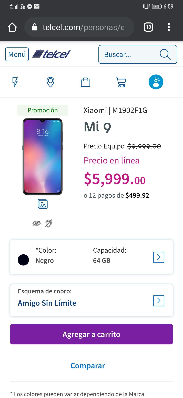 Telcel: Xiaomi Mi 9 SD855