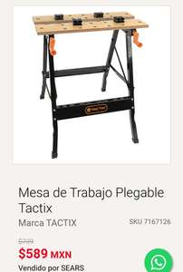 Sears: Mesa de Trabajo Plegable Tactix