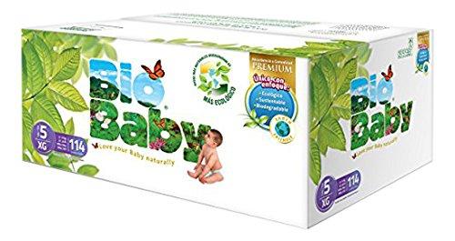 Amazon: pañales Bio Baby extra grande talla 5 con 114 piezas a $299