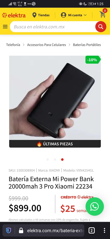 Elektra: Xiaomi powerbank 20 000
