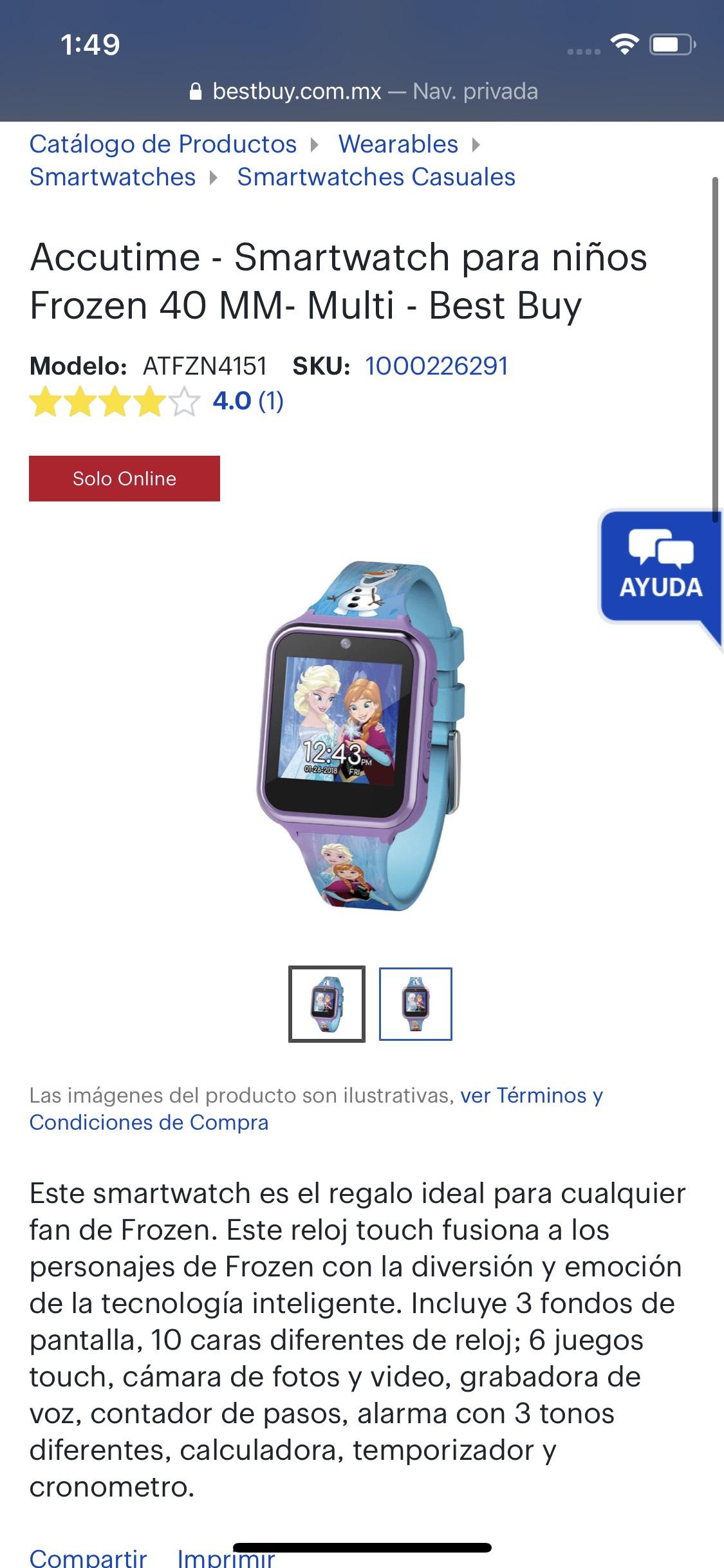 Best Buy : Reloj inteligente para niños