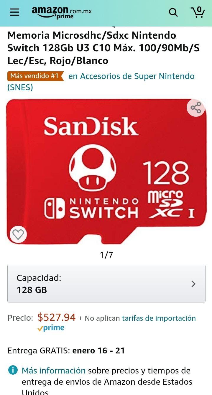 Amazon: Micro SD nintendo switch 128gb