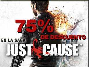 75% de descuento en Just Cause 1 y 2 y 33% en Ghost Recon Future Soldier (PC)