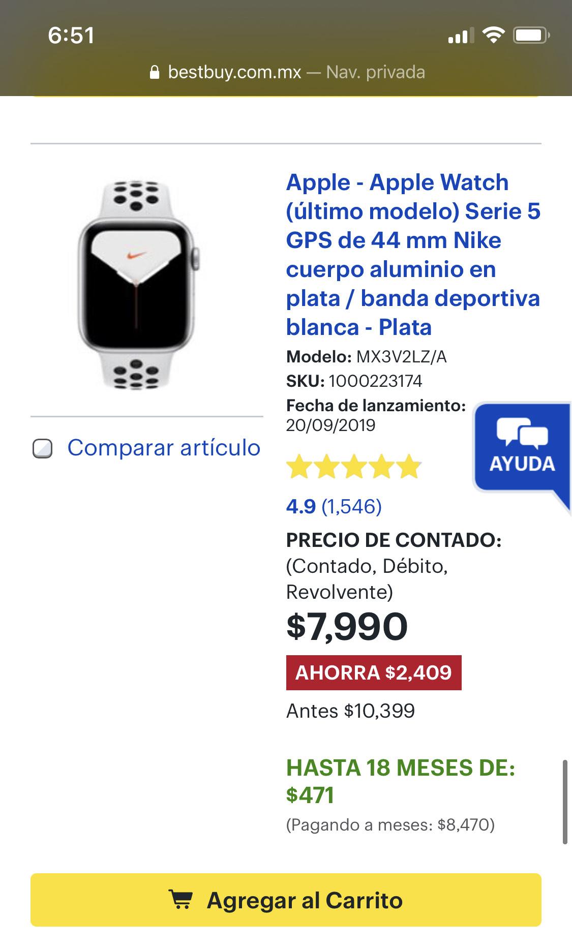 Best Buy: Apple Watch Series 5 44mm