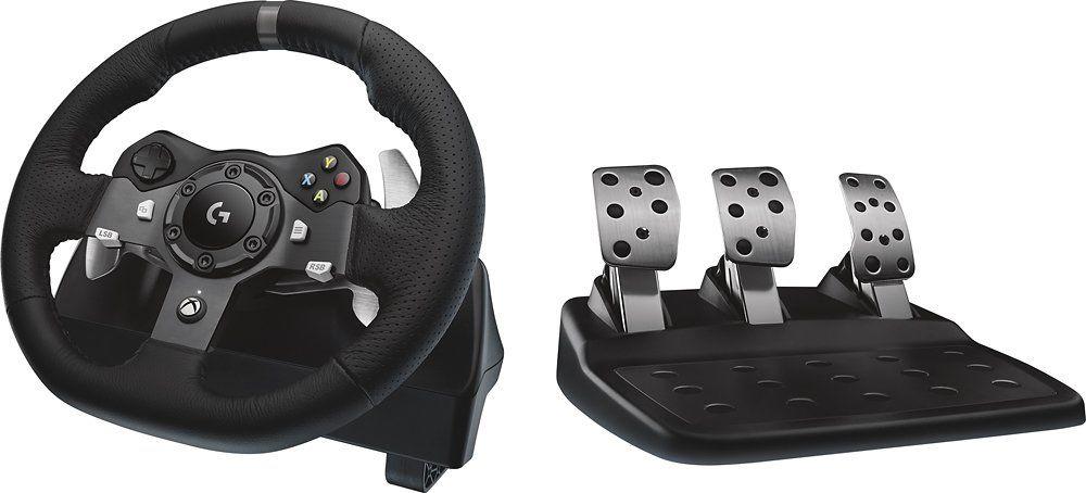 Best Buy: Logitech - Volante de carreras G920 Driving Force para Xbox One y Windows - Dísponible de nuevo