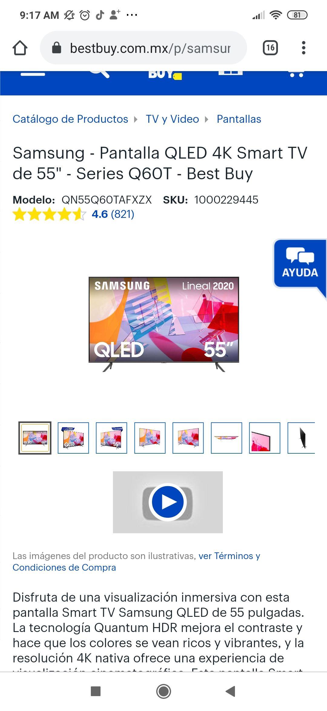 """Best Buy: Samsung 55"""" series Q60"""