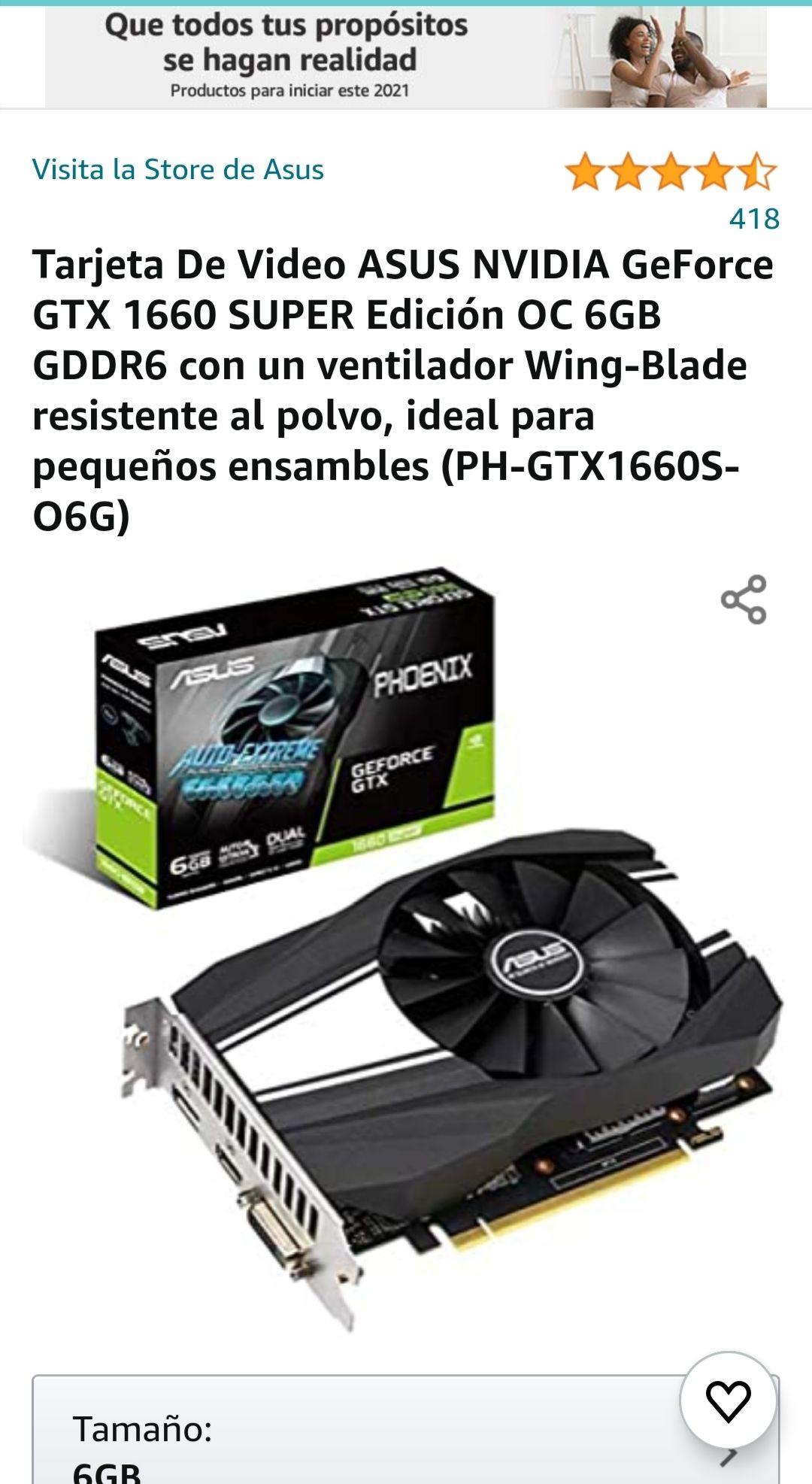 Amazon: Asus GTX1660 Super