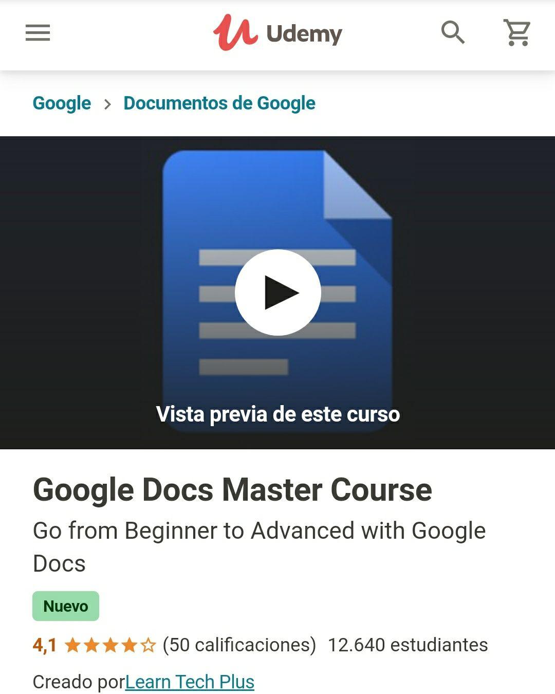 Udemy: Google Docs Master Course