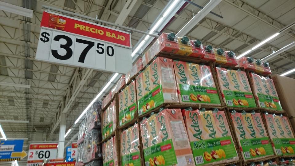 Walmart Tláhuac: 3 Ades (Manzana, Mango, Durazno) por $37.50