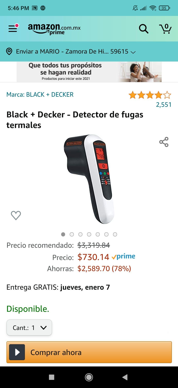Amazon: Black + Decker - Detector de fugas termales de fugas