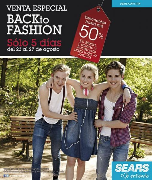 Sears: hasta 50% de descuento en moda, calzado y accesorios para toda la familia