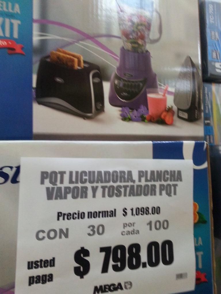 Comercial Mexicana Culiacán Sinaloa: Combo Oster licuadora tostadora y plancha  de vapor