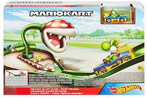 Amazon: Hot Wheels Pista de Juguete Mario Kart Set Piraña