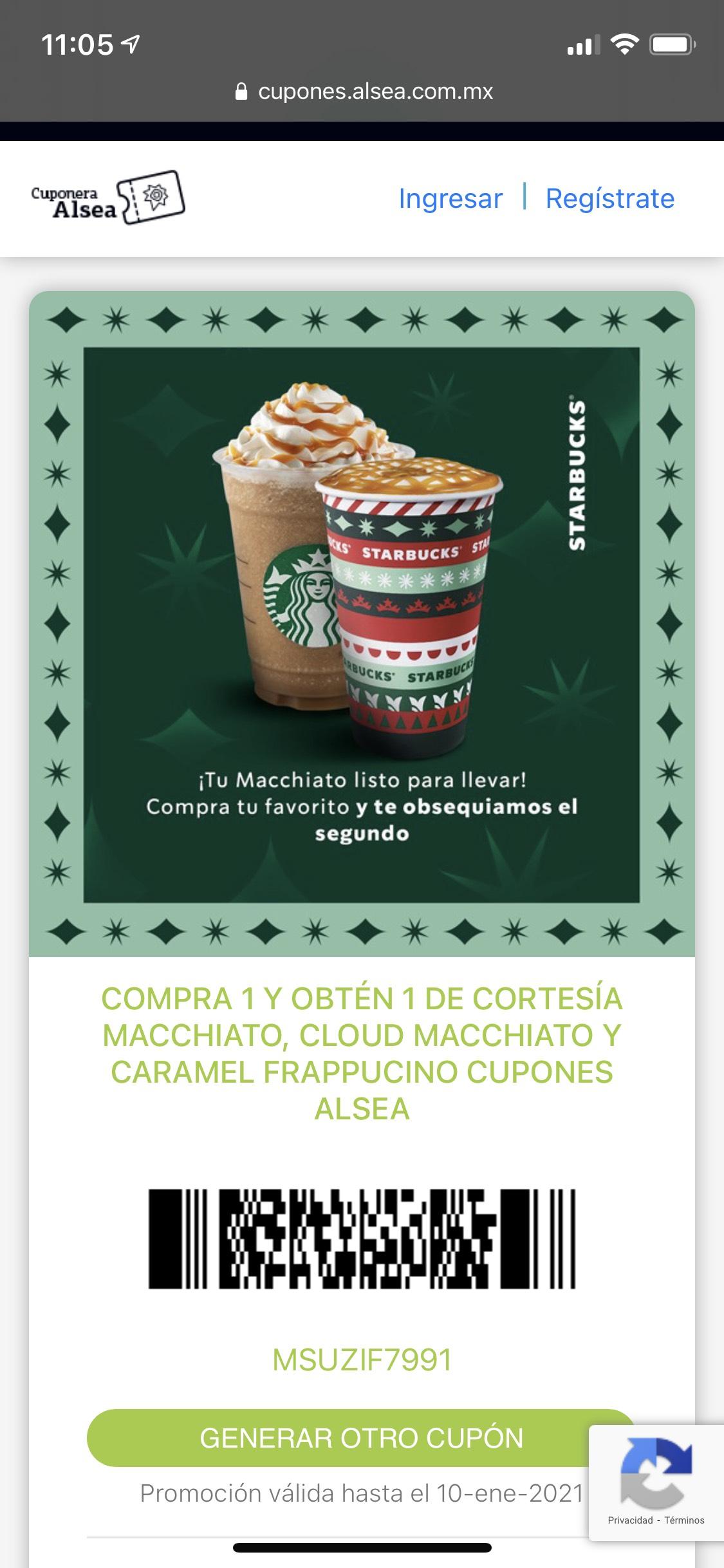 ALSEA: Starbucks - Macchiato's al 2x1