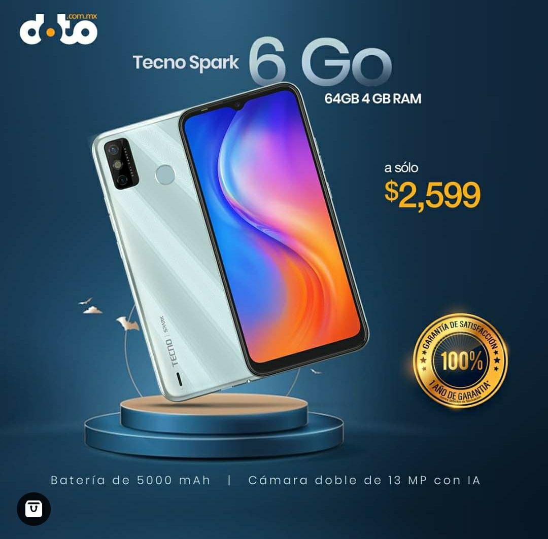 Doto: Tecno Spark 6 Go KE5K 64GB 4GB Ram