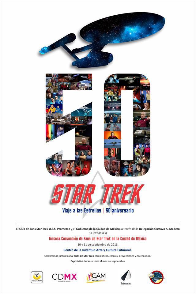50 aniversario STAR TREK, evento gratuito CDMX