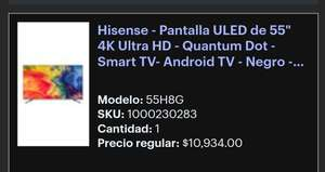 Best Buy: Pantalla hisense 55h8g