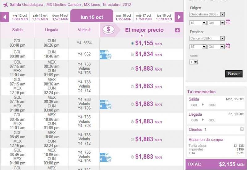 Volaris: viaja desde y hacia Cancún desde $999