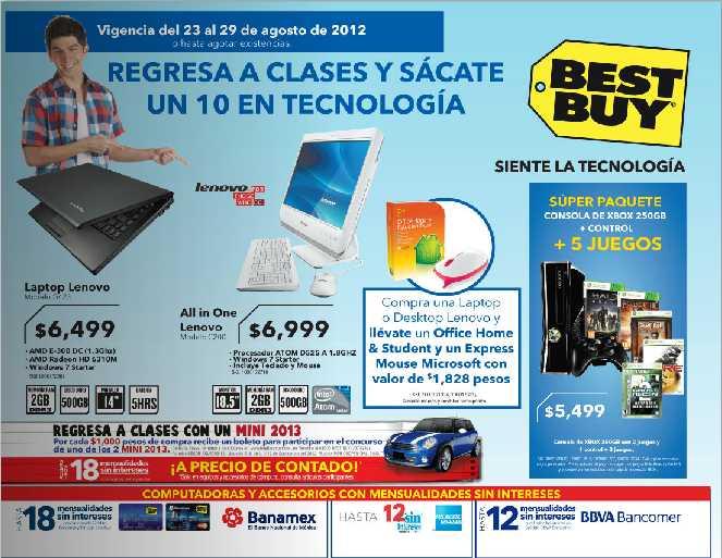 Folleto Best Buy agosto 23: 25% de descuento en cámaras Canon, 30% en Office 2010 y más