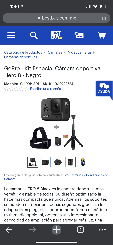 Best Buy GoPro - Kit Especial Cámara deportiva Hero 8 - Negro