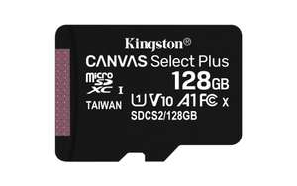 Cyberpuerta: Memoria Flash Kingston Canvas Select Plus, 128GB MicroSDHC UHS-I Clase 10, con Adaptador