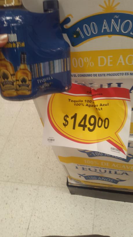 Chedraui: Tequila 100 años reposado de 1 litro más 1 de 375ml