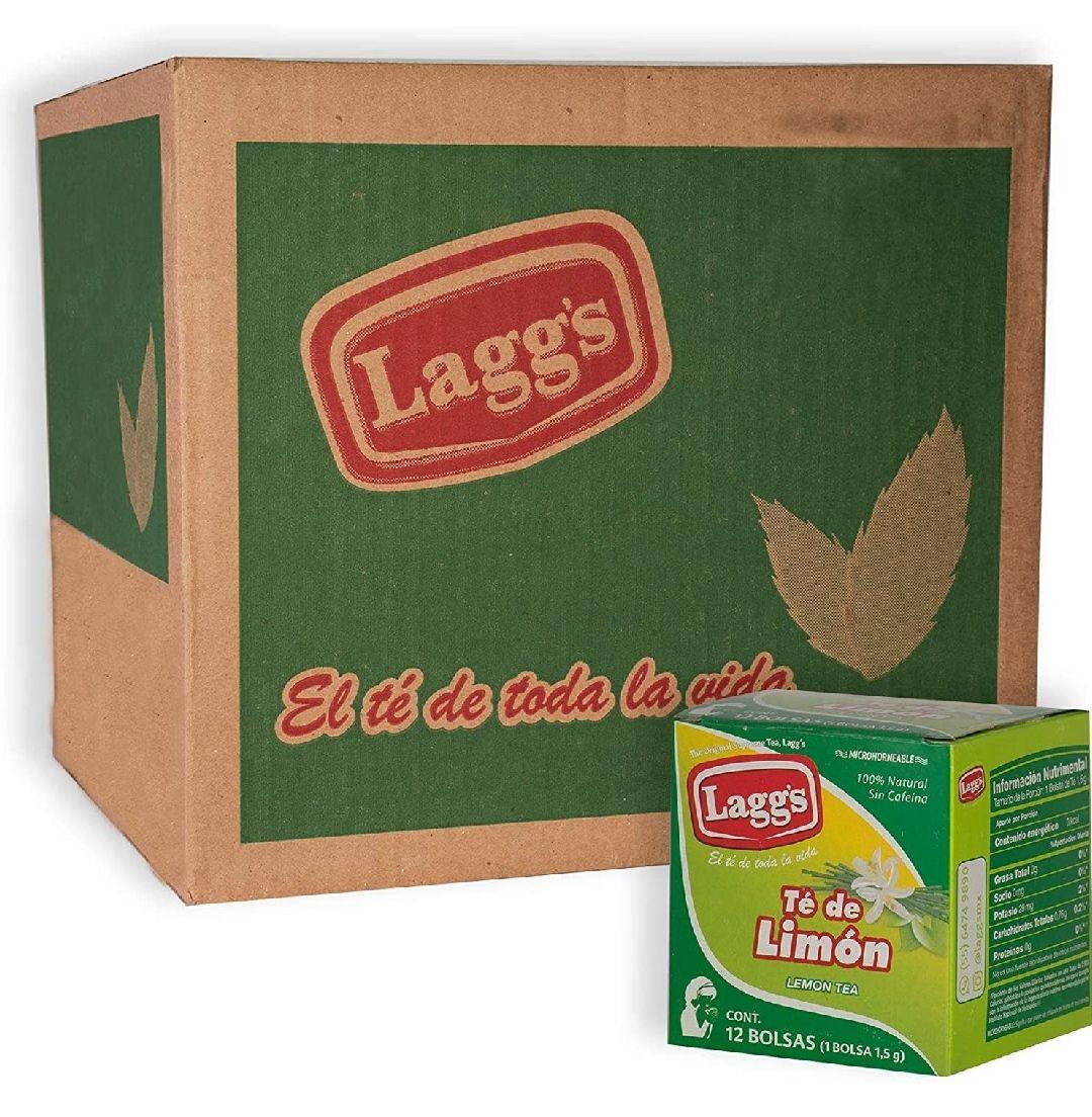 Amazon: LAGG´S, Caja de Té Sabor Limón con 24 Paquetes de 12 Sobres