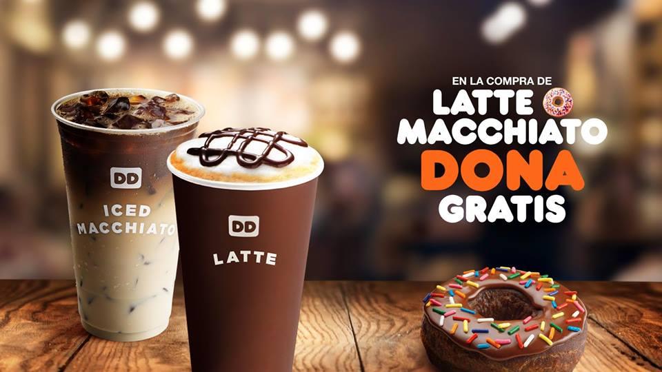 Dunkin Donuts: dona gratis comprando latte o macchiato en agosto