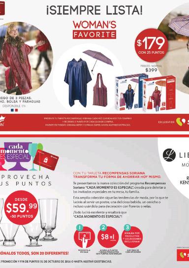 Soriana: paquete de 3 accesorios para lluvia a $179 + 25 puntos