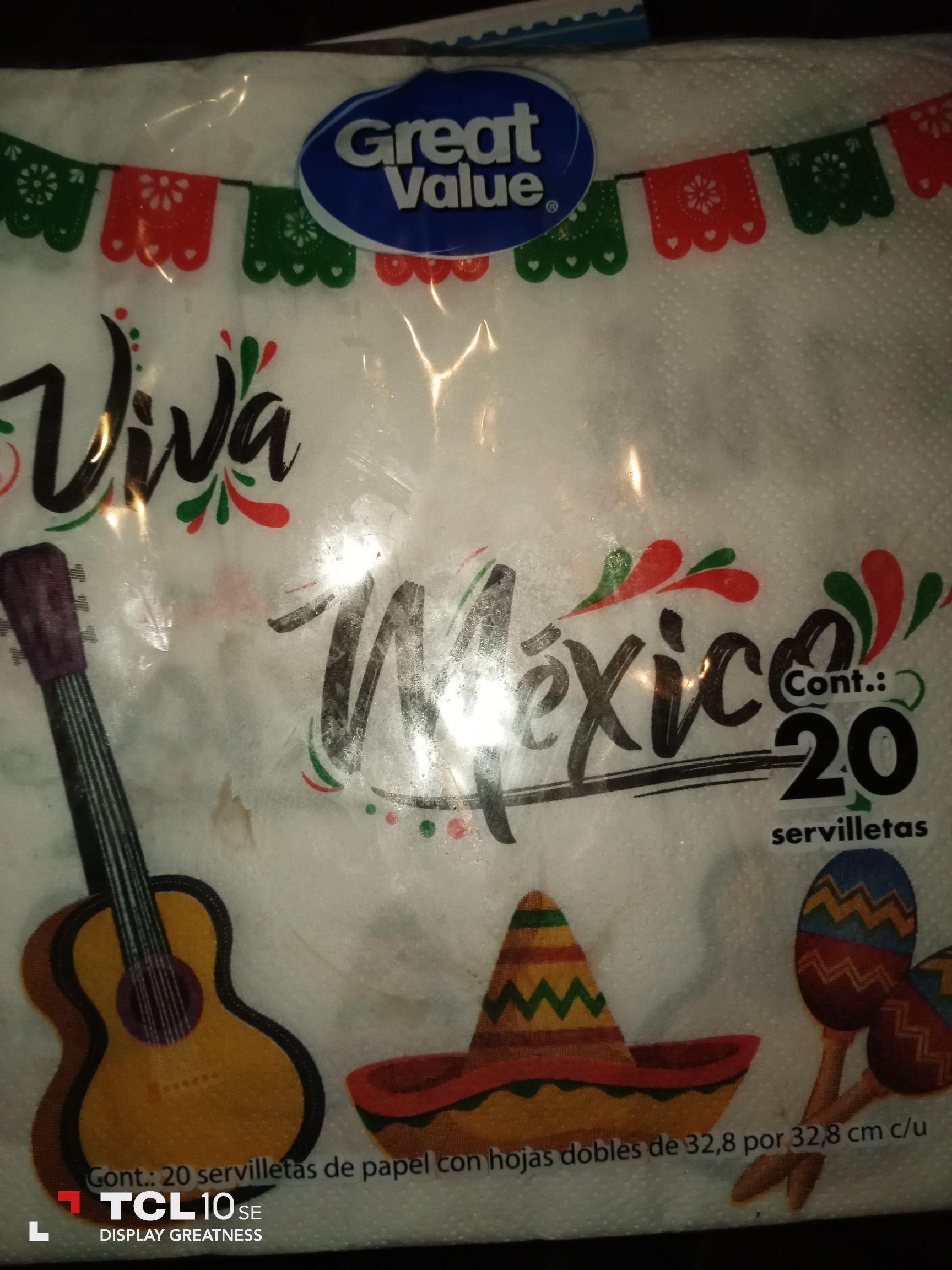 Walmart: Servilletas revolución $1.01 luces navideñas $36.01