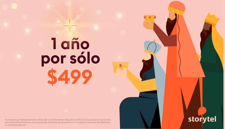 Storytel Oferta Especial: 1 año por sólo $499 (Precio regular $2,028 )